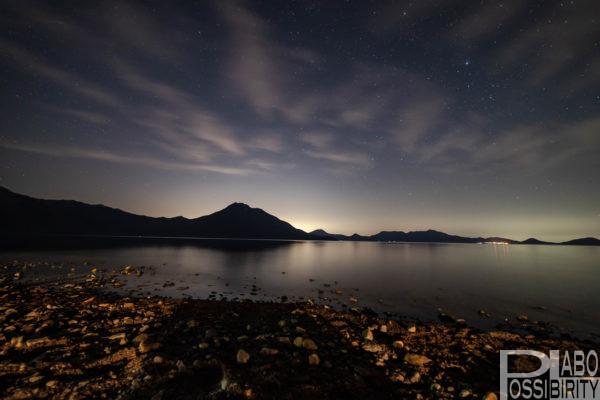 支笏湖畔からの恵庭岳