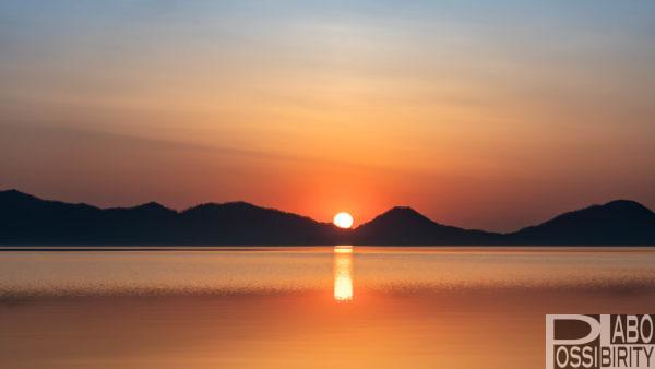 支笏湖 平成最後の日の出