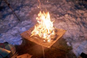ファミリーパーク追分オートキャンプ場焚火