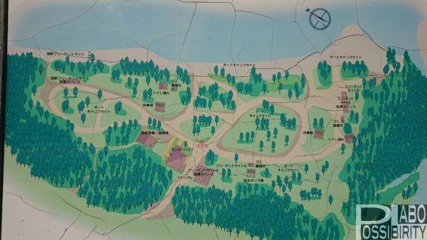北海道キャンプ場,予約なし,おすすめキャンプ場,札幌近郊美笛キャンプ場サイト地図