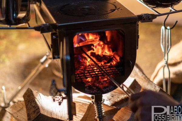初心者,冬キャンプ,キャンプ用品,防寒対策,必須,必要,雪中キャンプ,便利,初めて,経験者,テンマクデザインウッドストーブサイドヴュー薪ストーブ