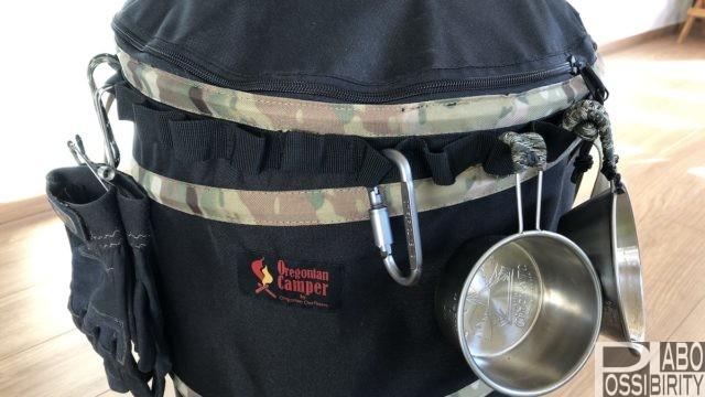 オレゴニアンキャンパーoregoniancamperおすすめ収納キャンプ用品,トヨトミレインボーストーブ,ポップアップトラッシュボックス
