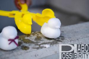 雪ひよこ雪玉製造機あひる型冬プレゼント