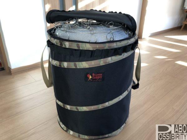 オレゴニアンキャンパーoregoniancamperおすすめ収納キャンプ用品,トヨトミレンボーストーブ,ポップアップトラッシュボックス