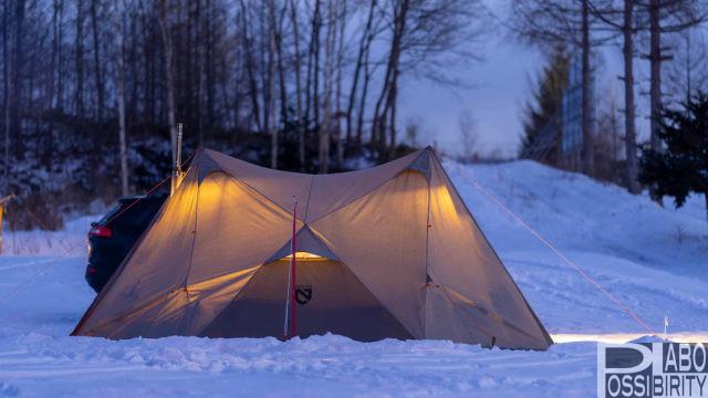 初心者,冬キャンプ,キャンプ用品,防寒対策,必須,必要,雪中キャンプ,便利,初めて,経験者,NEMOニーモヘキサライトエレメント6Pテント