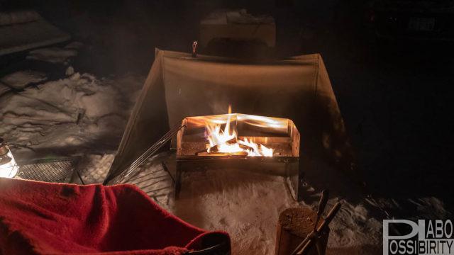 初心者,冬キャンプ,キャンプ用品,防寒対策,必須,必要,雪中キャンプ,便利,初めて,経験者,薪グリルラージUNIFLAME焚き火台
