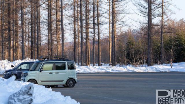 軽自動車で2人車中泊,体験談,MGRベッドキット,寝心地抜群,美瑛旅
