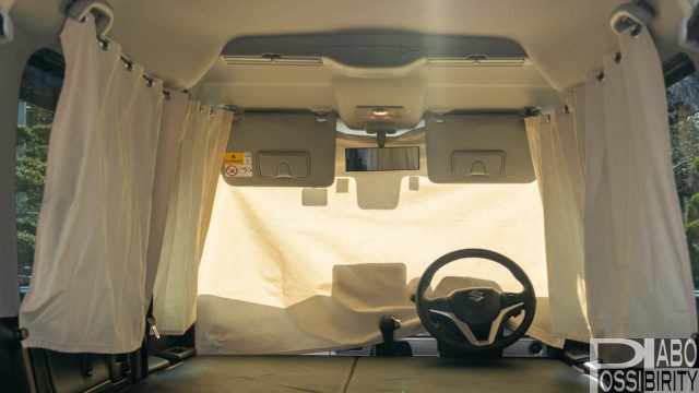 車中泊用自作おしゃれカフェカーテン,ハトメ,開閉楽々,構想,工程,手順,方法,購入材料,製作費用