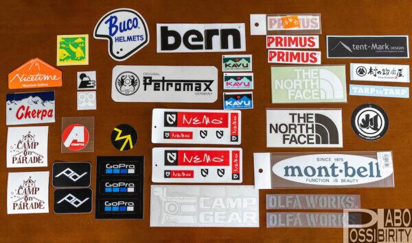 アウトドアロゴステッカー,キャンプギア,ブログ,カスタマイズ,シール,転写式,カッティングステッカー,ブランド,使用例,活用例,何に貼る,車,おしゃれ,サイズ